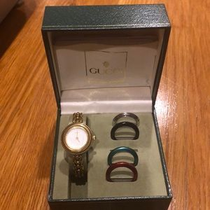 Vintage Gucci Watch with interchangeable trims